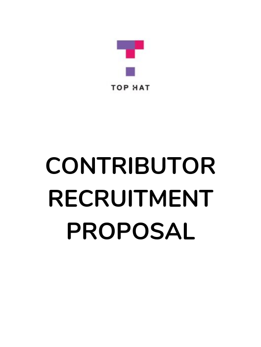 Contributor Recruitment Proposal