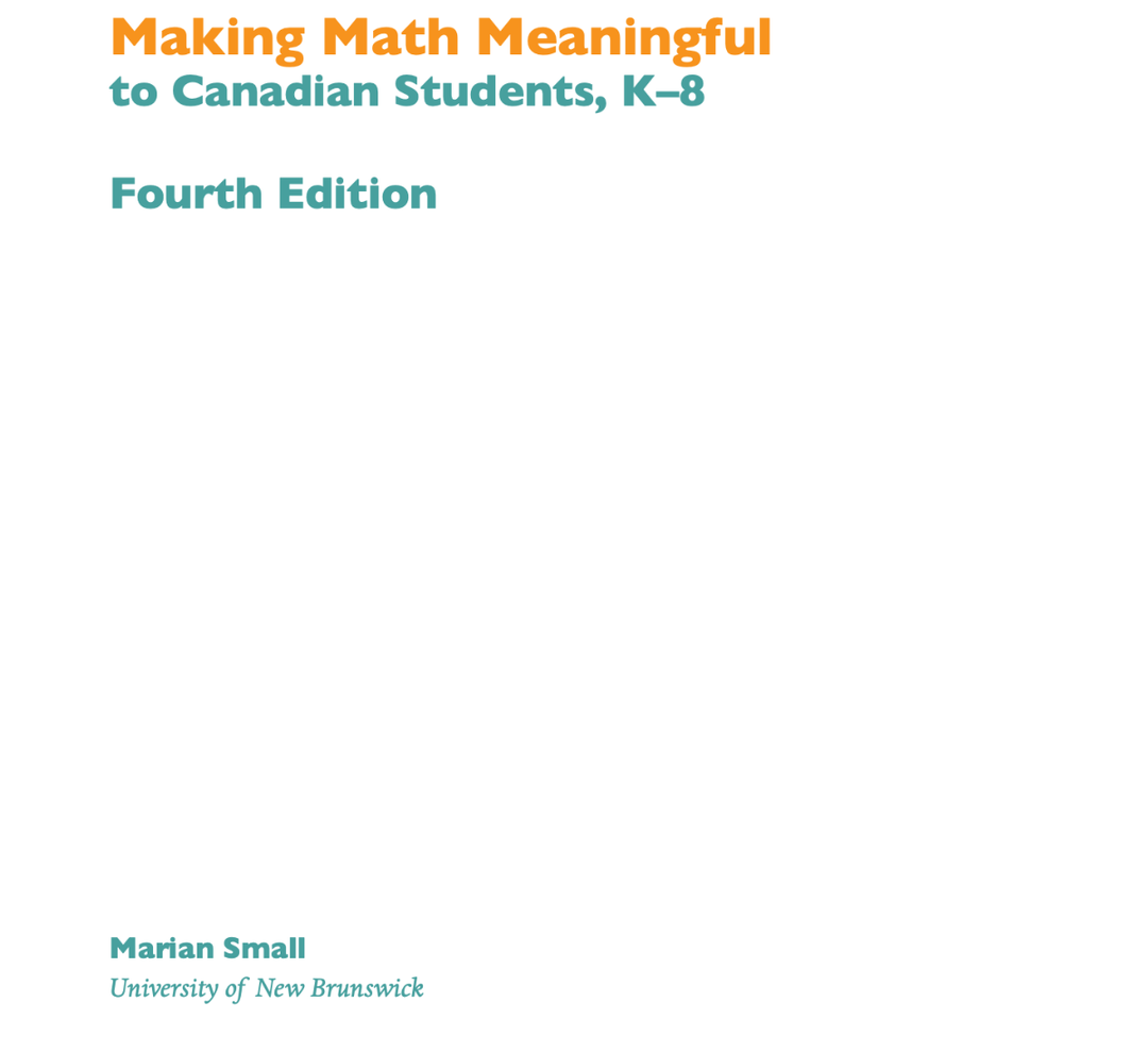 Making Math Meaningful to Canadian Students, K-8, 4th Edition