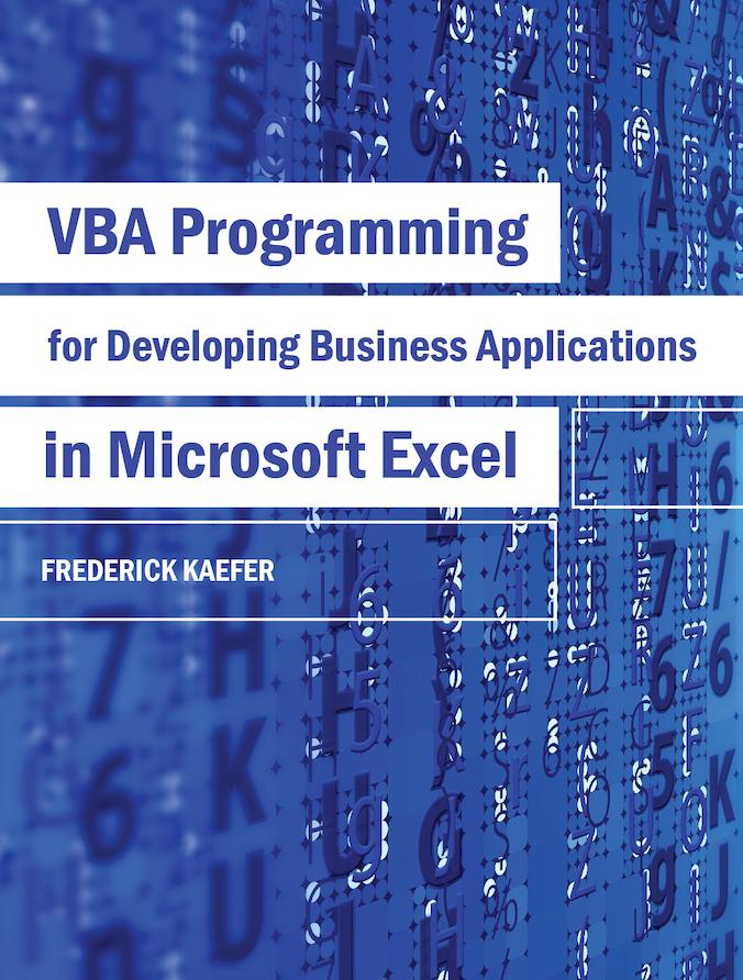 VBA Programming for Developing Business Applications in