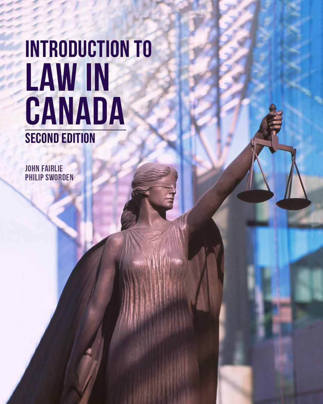 Introduction to Law in Canada, 2nd Edition
